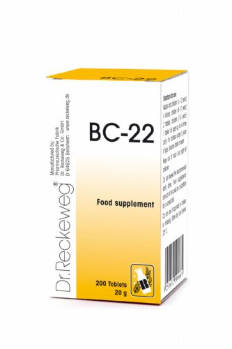 Schuessler BC22 combination cell salt - tissue salt